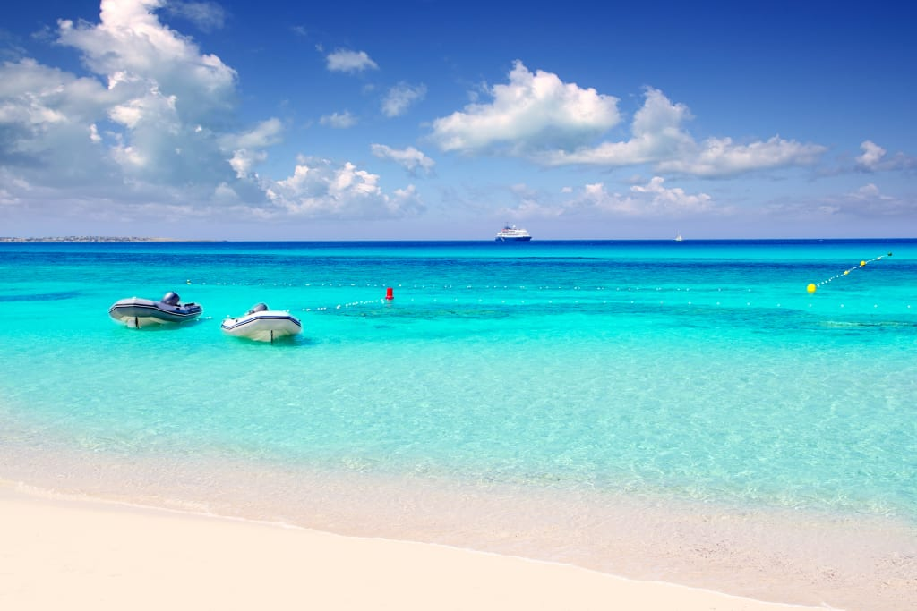 une plage à Formentera