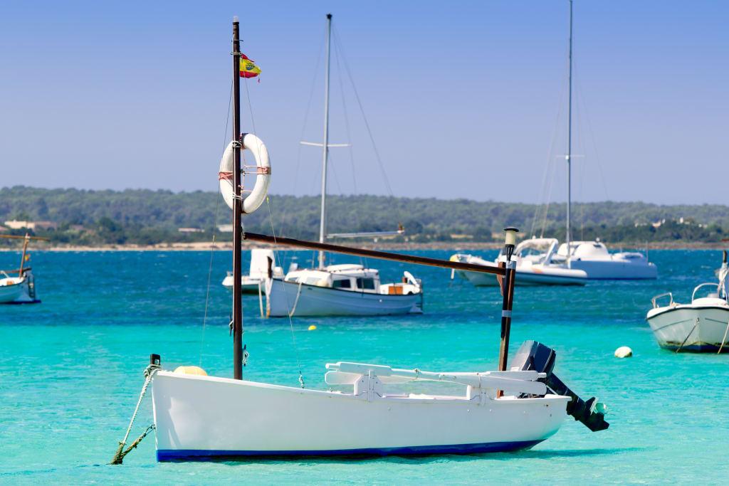 un bateau à Formentera, Espagne