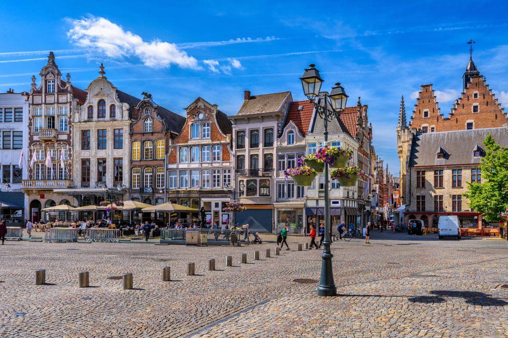 Antwerpen Marktplatz Altstadt, Flandern, Belgien