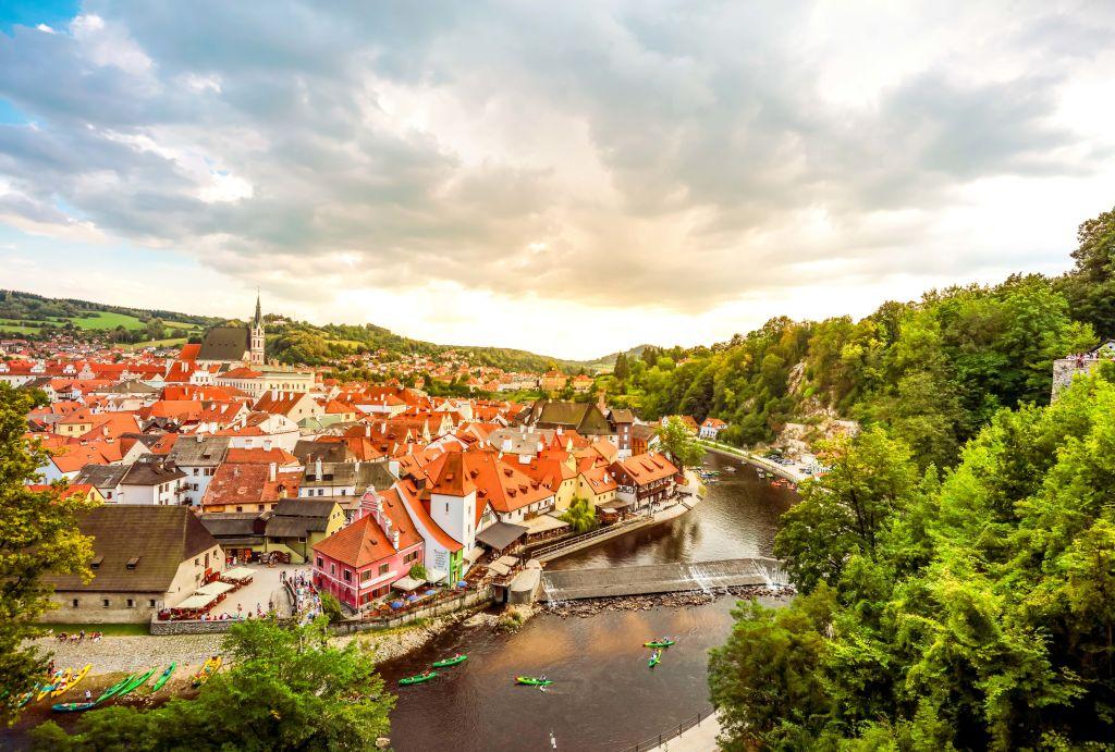 Prag Tschechien AUsblick bei Sonnenaufgang