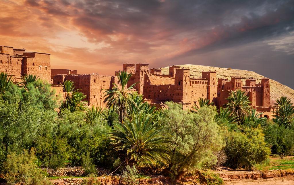 Une forteresse à Marrakech, Maroc