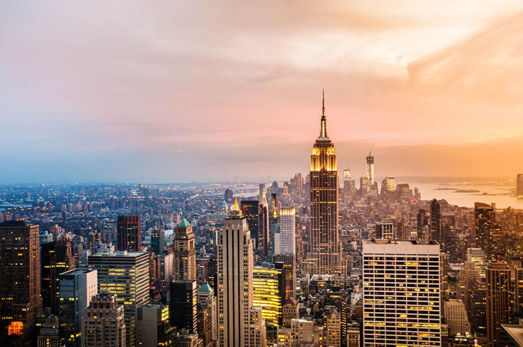 Toits de New York au coucher du soleil