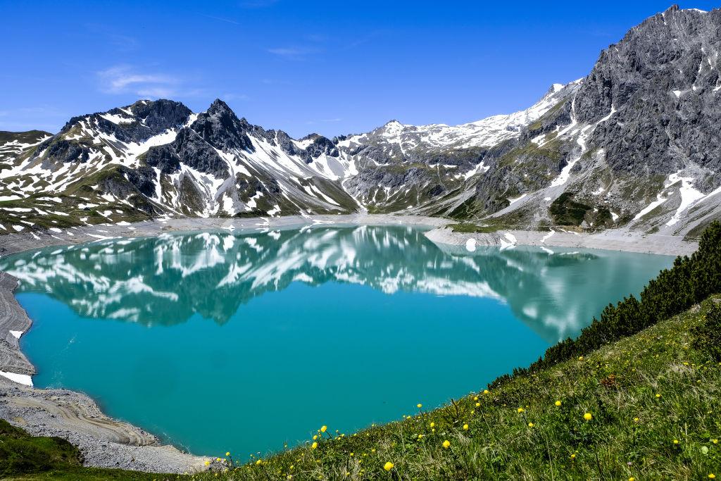 Luenersee, Raetikon, Vorarlberg See Österreich Berge