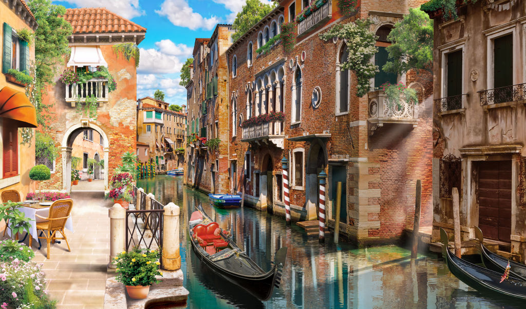 Azure, Boat, Brick