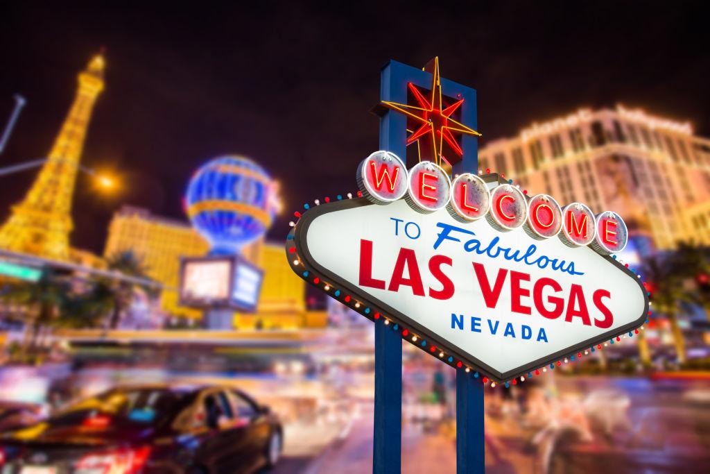 Las Vegas Schild bei Nacht