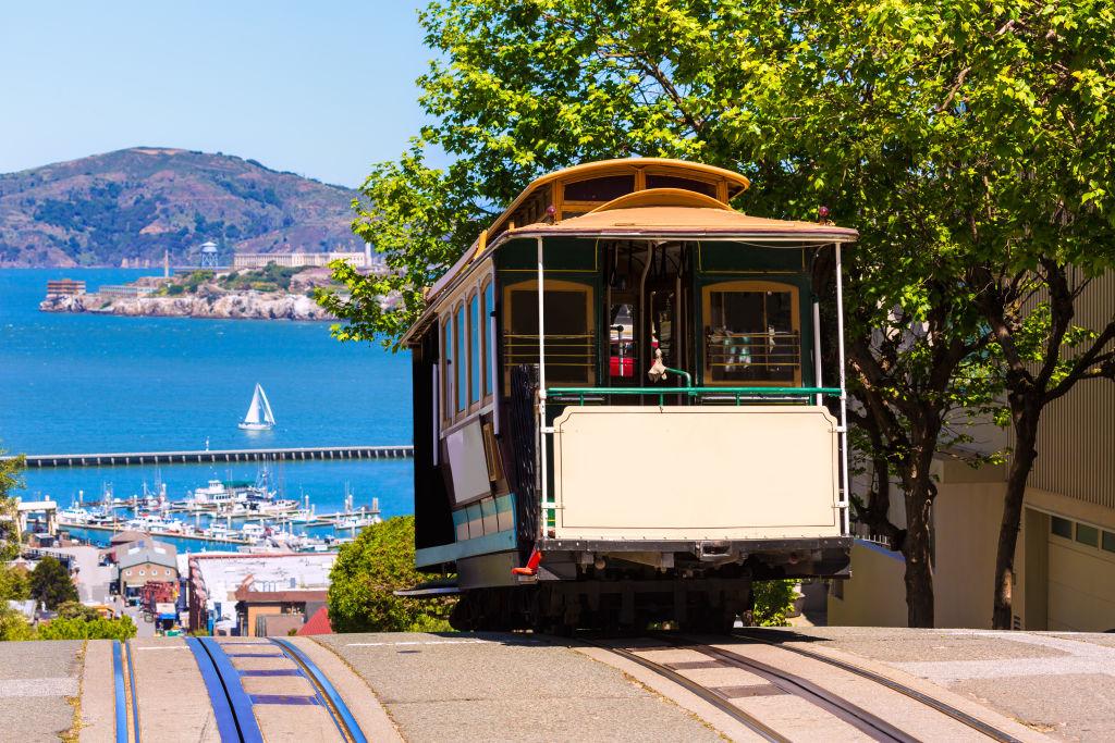Boat, Cable Car, California