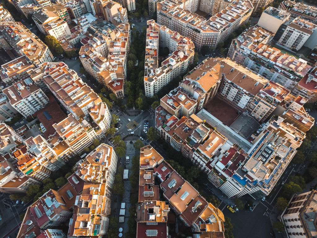 Aerial photography, Aerial View, Barcelona
