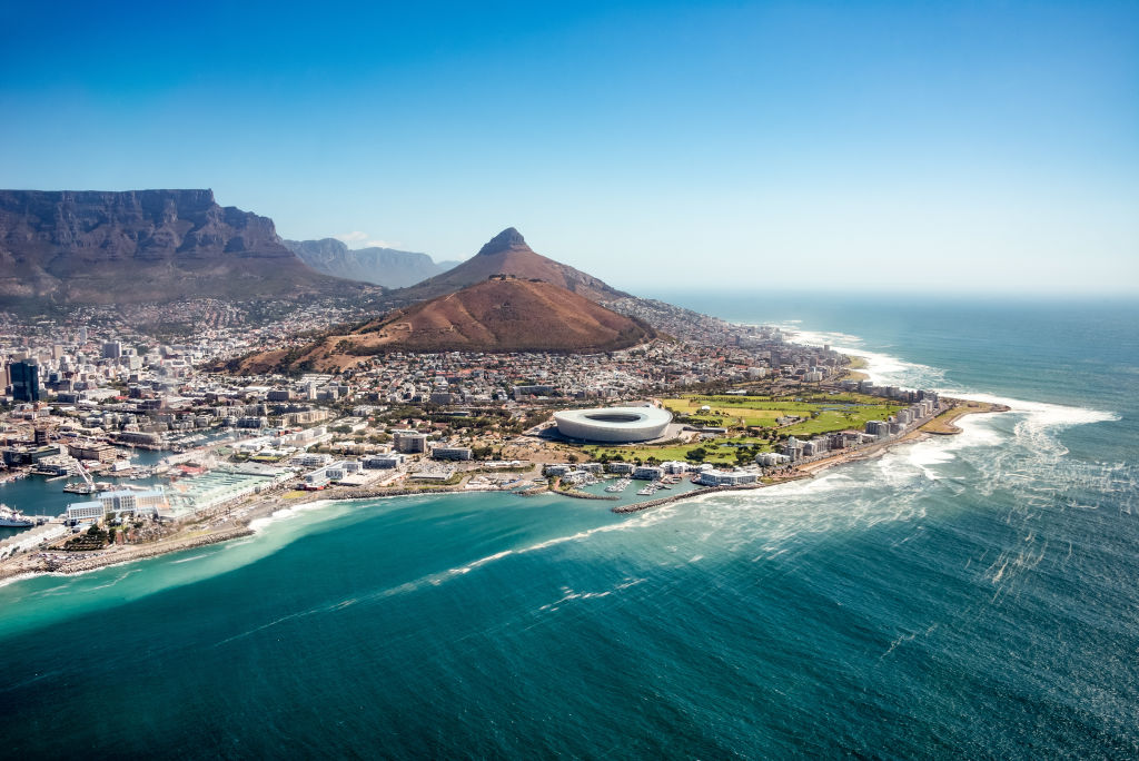 Aerial View, Beach, Capetown