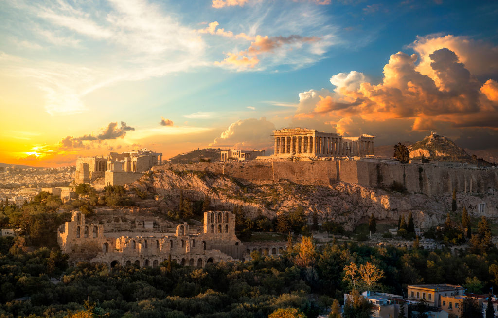 Afterglow, Architecture, Athens