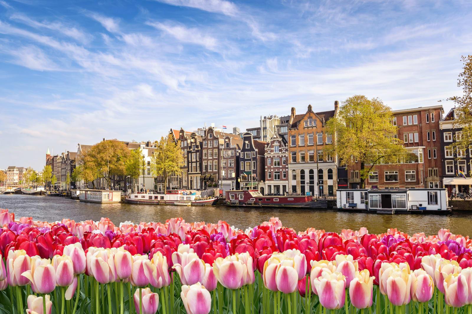 Un canal à Amsterdam, Hollande