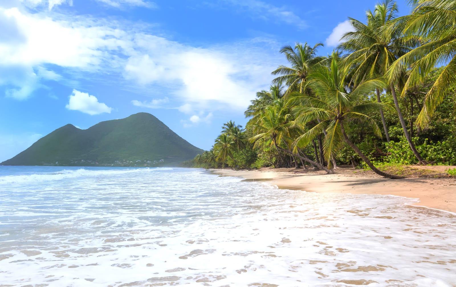 Une plage en Martinique
