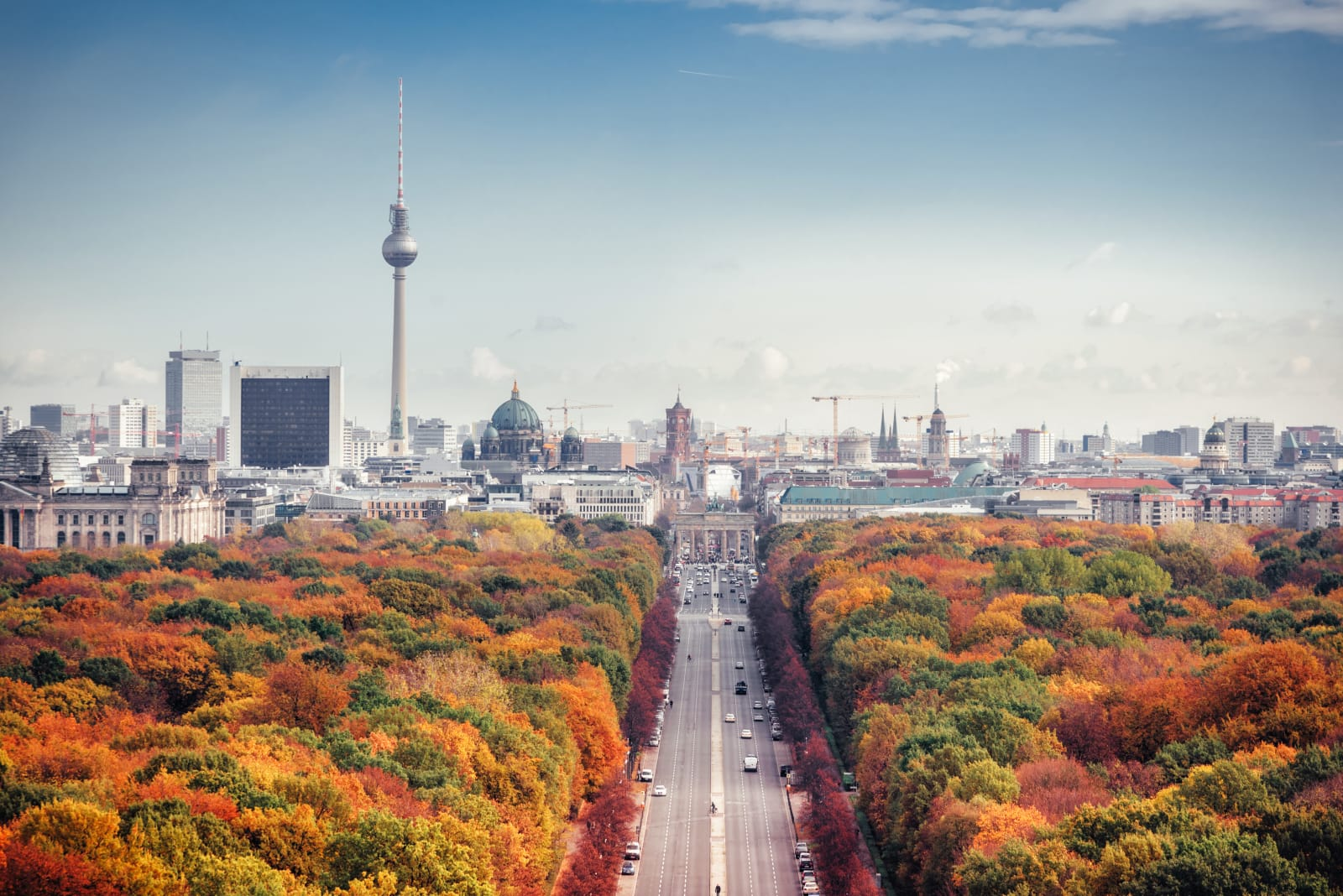 Skyline de Berlin en automne