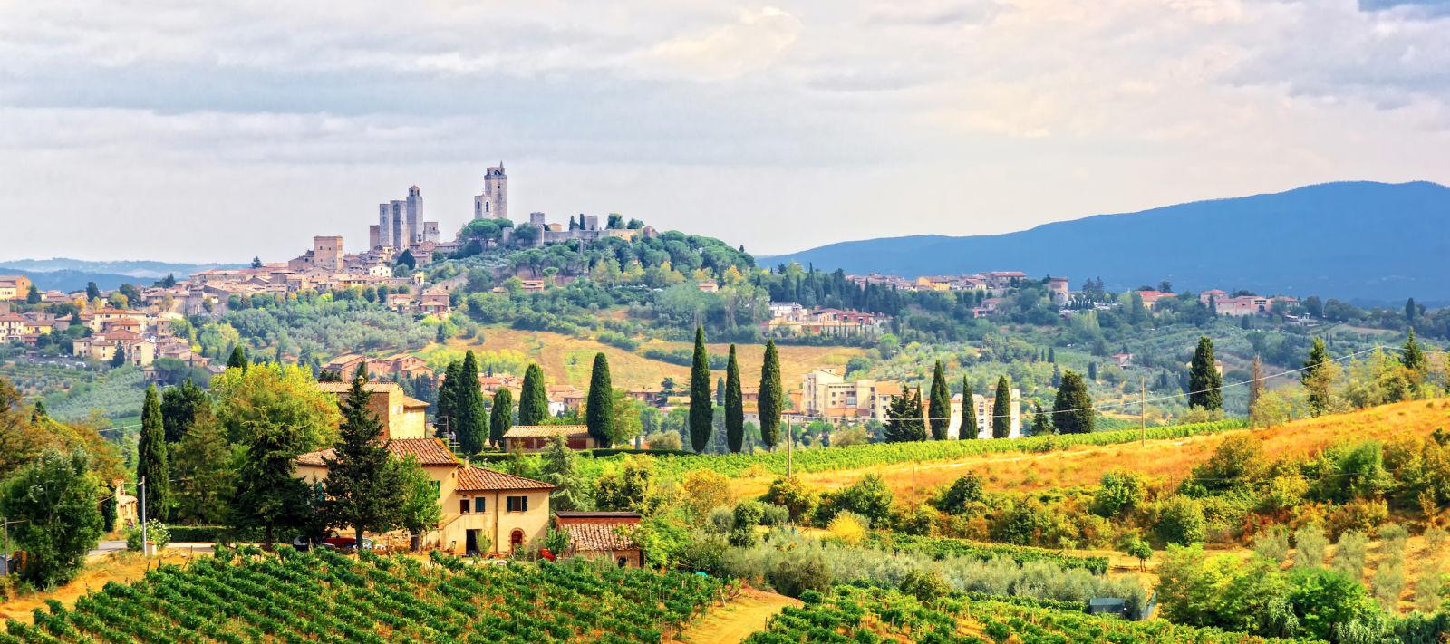Landschaft der Toskana