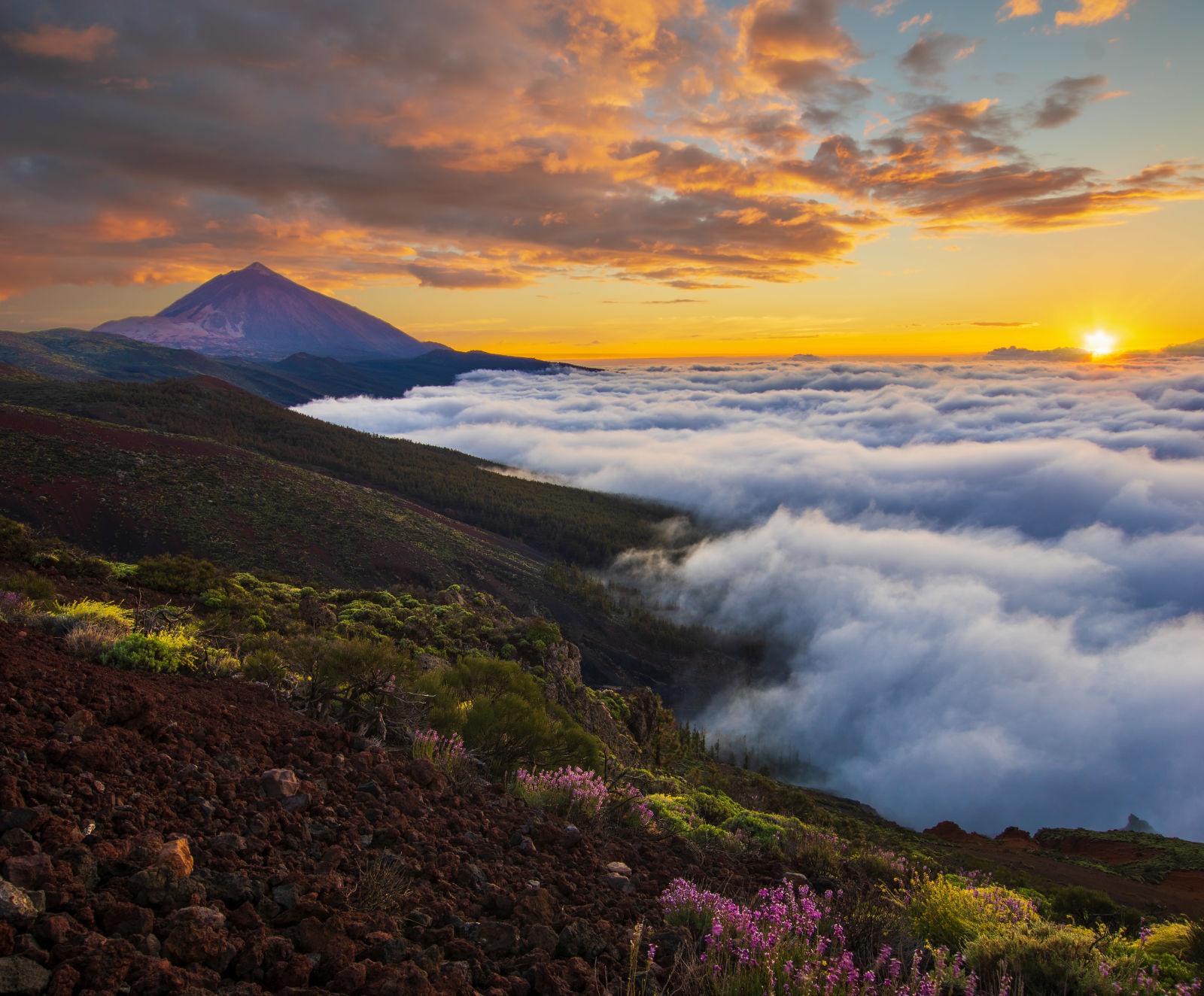 Afterglow, Atmosphere, Canary Islands