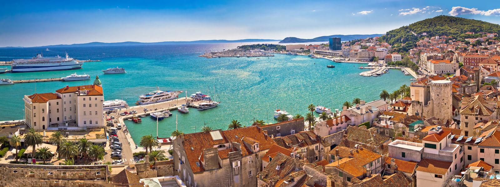 Strandpromenade in Split, Kroatien