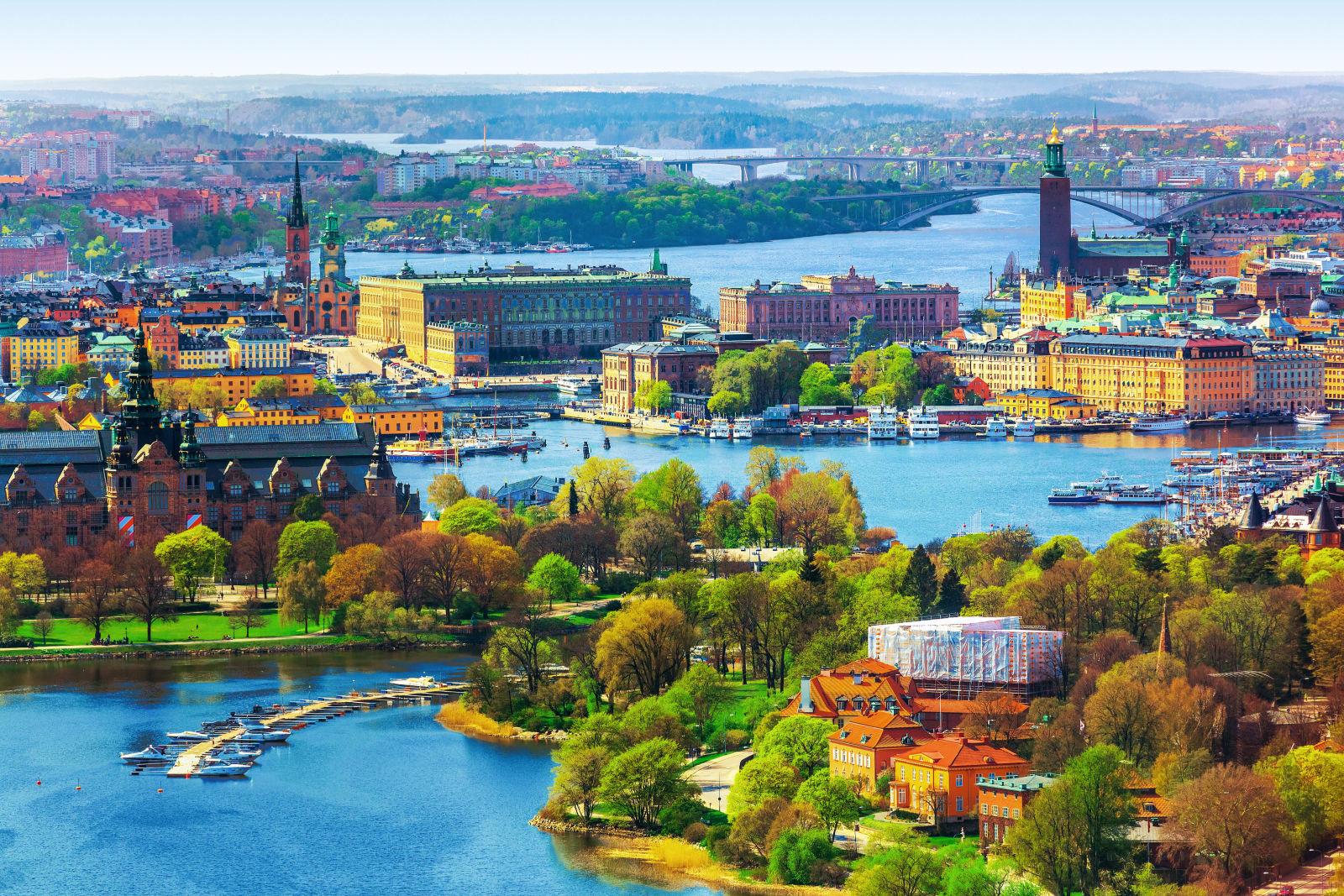 Luftpanorama von Stockholm, Schweden