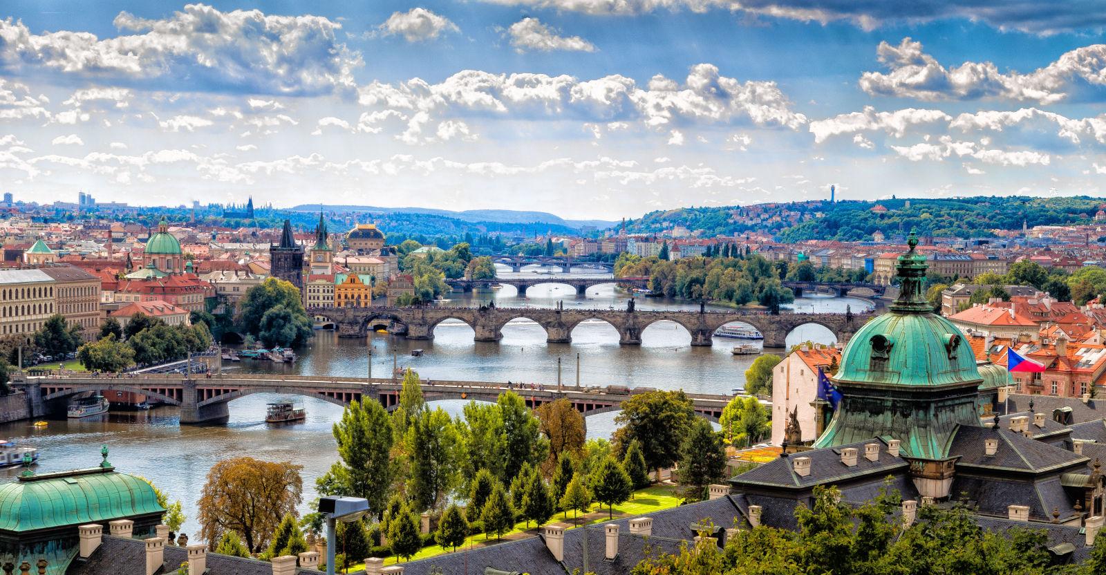 Vue sur Prague, République Tchèque