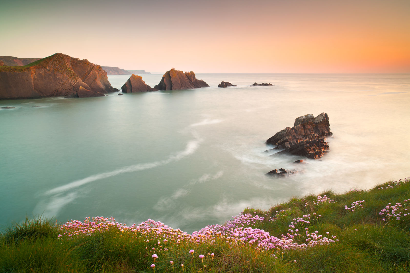 Sonnenuntergang in Cornwall