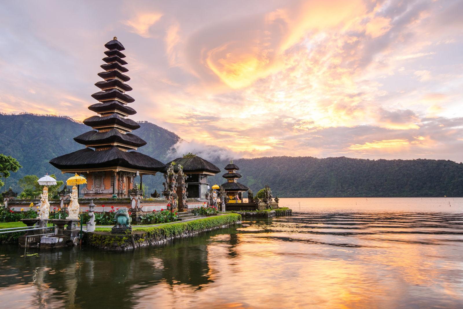 Pura Ulun Danu Bratan auf Bali, Indonesien