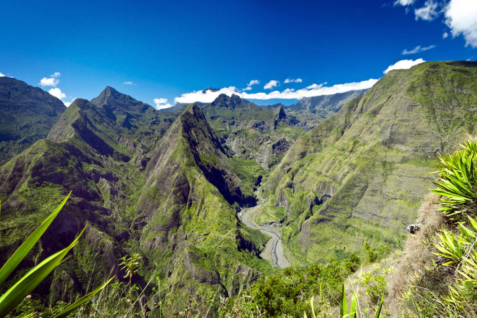 Nationalpark La Reunion Afrika Berge Natur