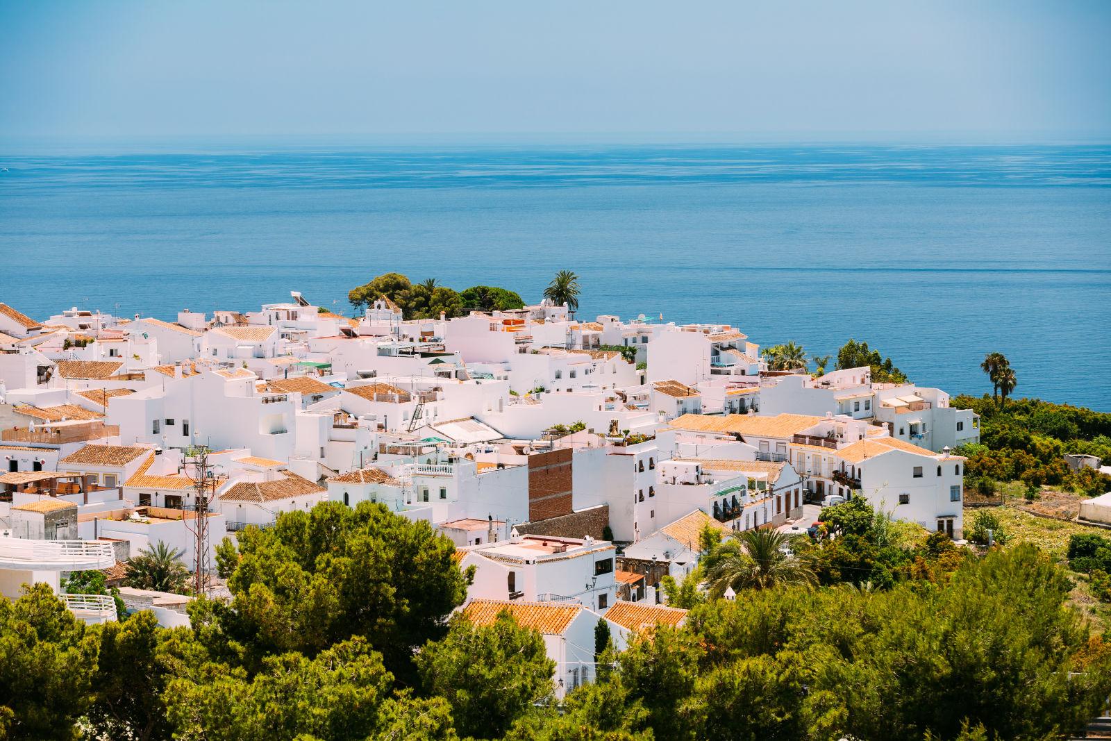 Nerja Malaga Spanien Häuser Meer
