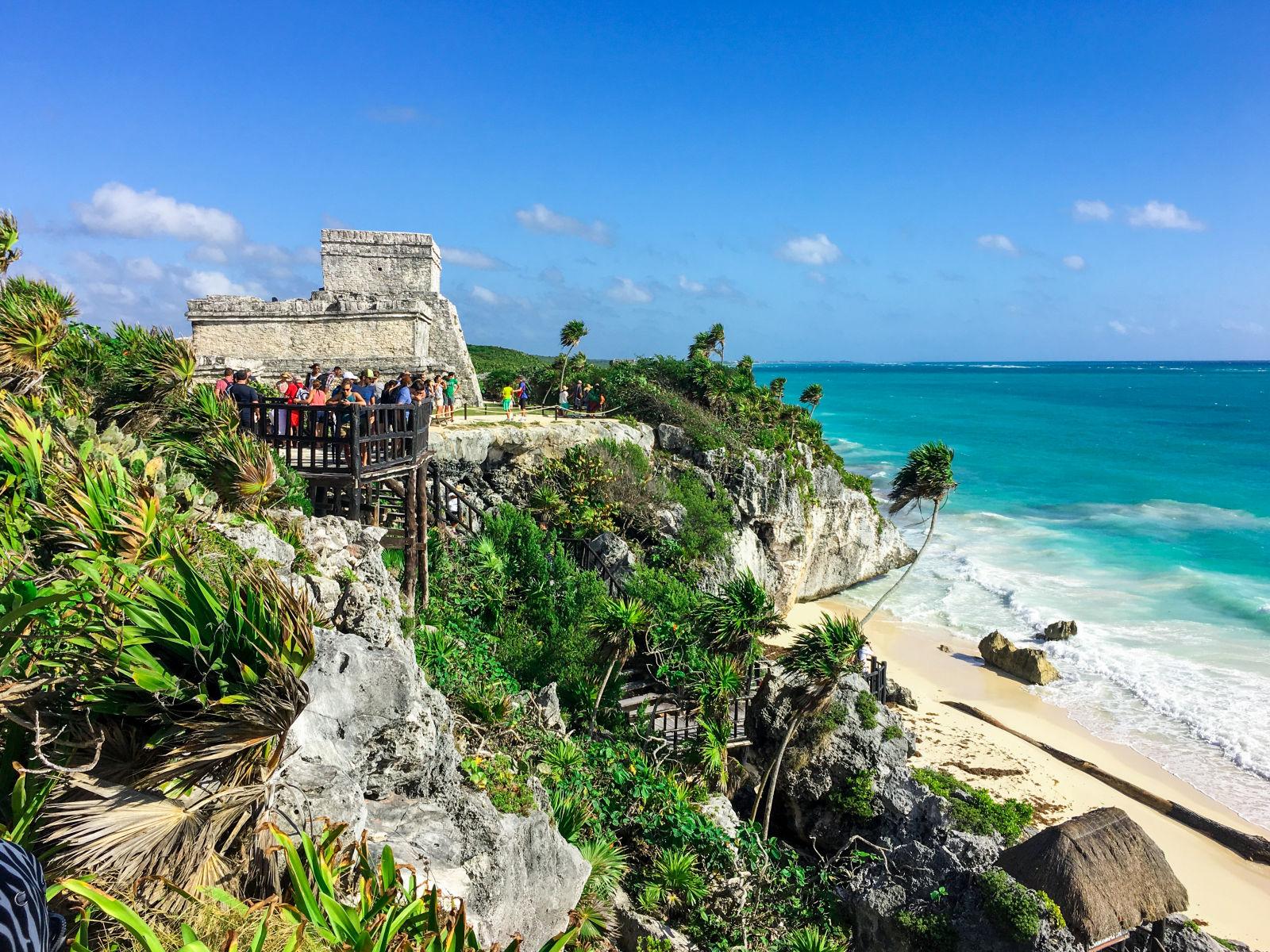 Tulum Mexiko Strand Palmen Meer