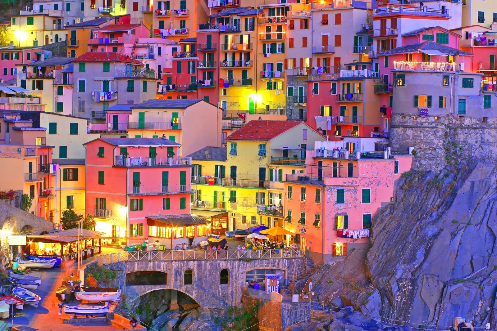 Maisons colorées à Manarola, Cinque Terre, Italie