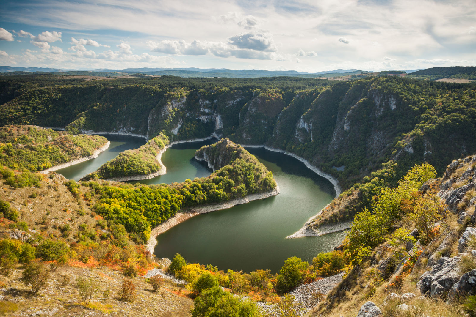 Canyon des Uvac Fluss, Serbien