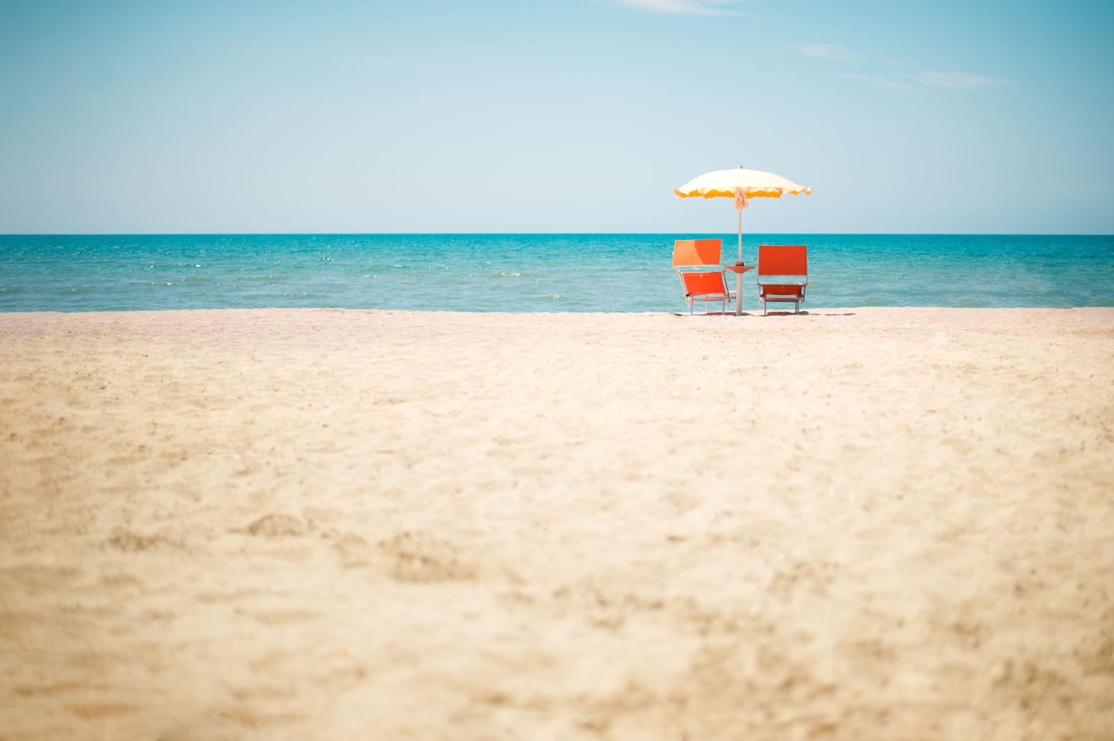 Albania, Beach, Chair