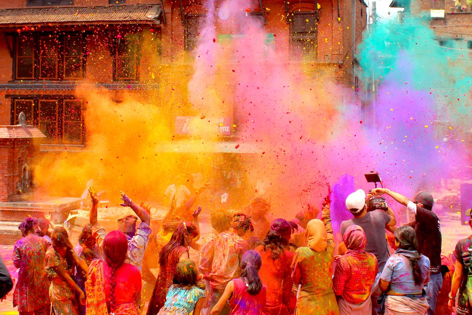 Holi Festival Feiertag Indien