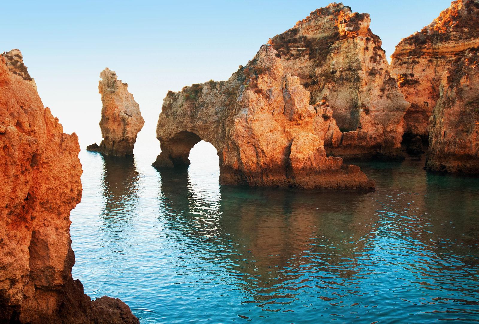 Steilküste Lagos, Portugal Meer