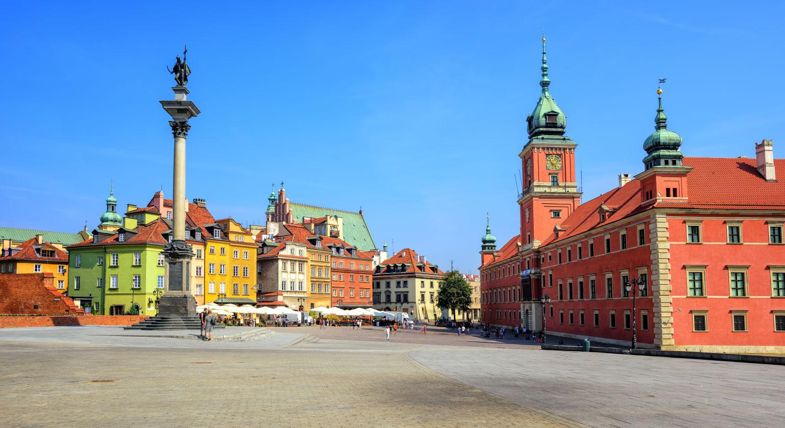 Blick auf die Altstadt von Warschau
