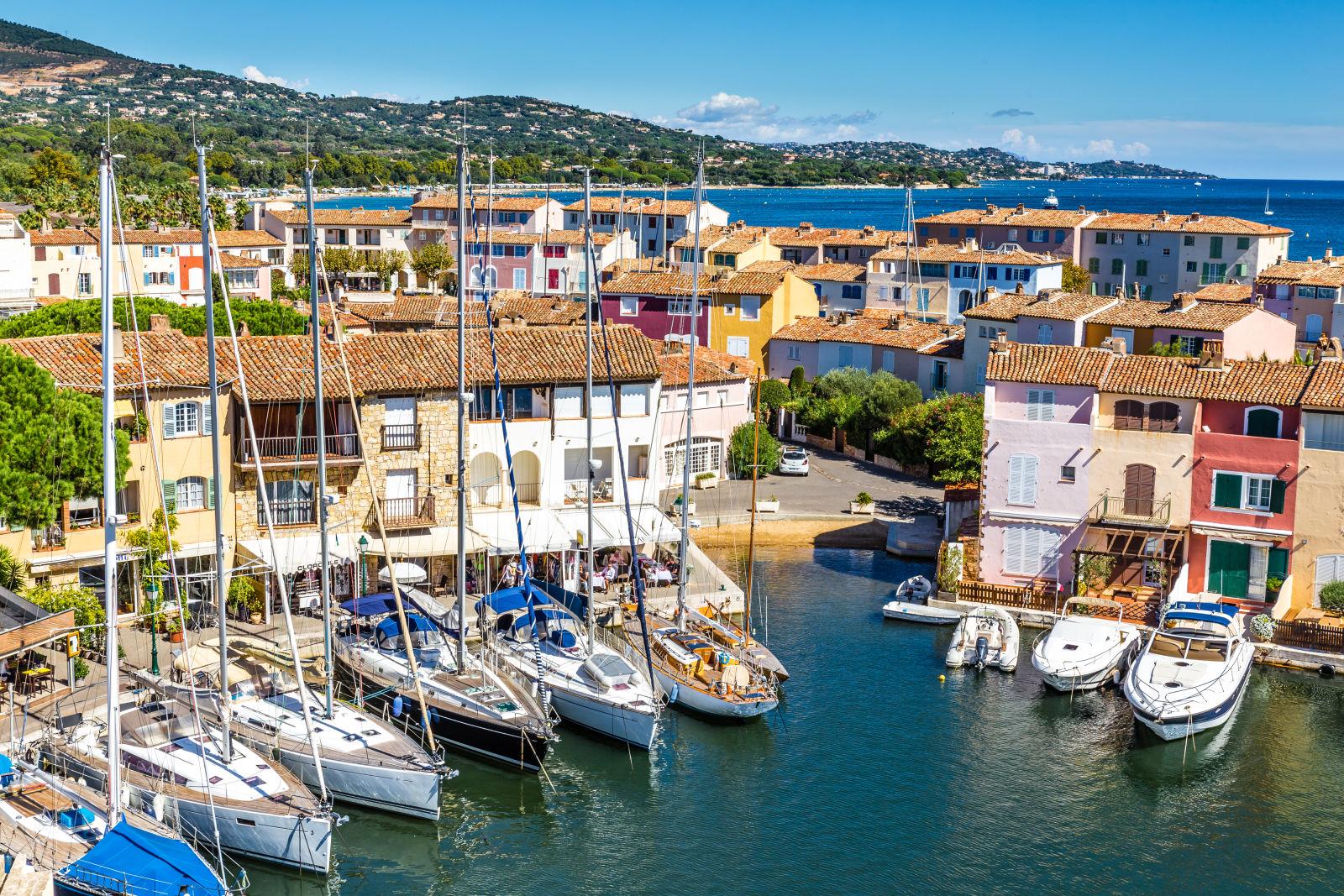 Bateaux dans le port de Port Grimaud