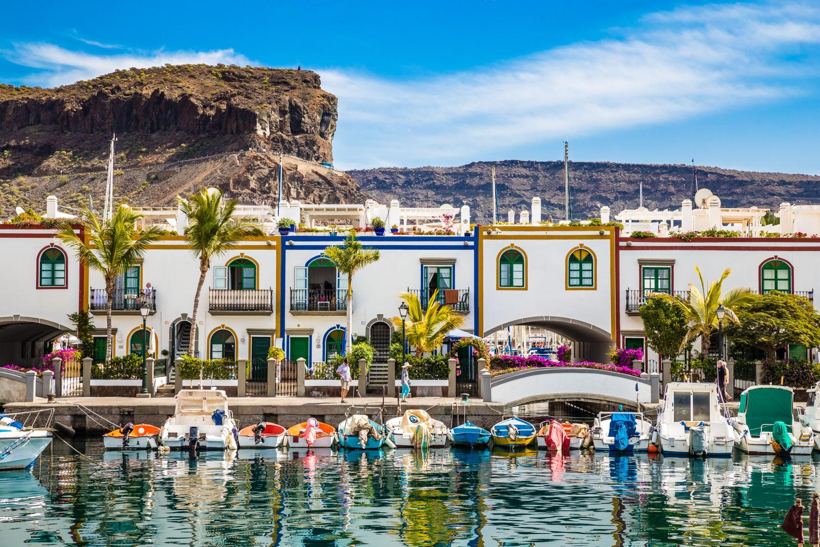 Port de Puerto de Mogan à Gran Canaria, Espagne
