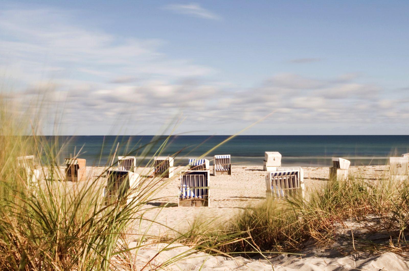 Strandstühle am Strand auf Usedom binz