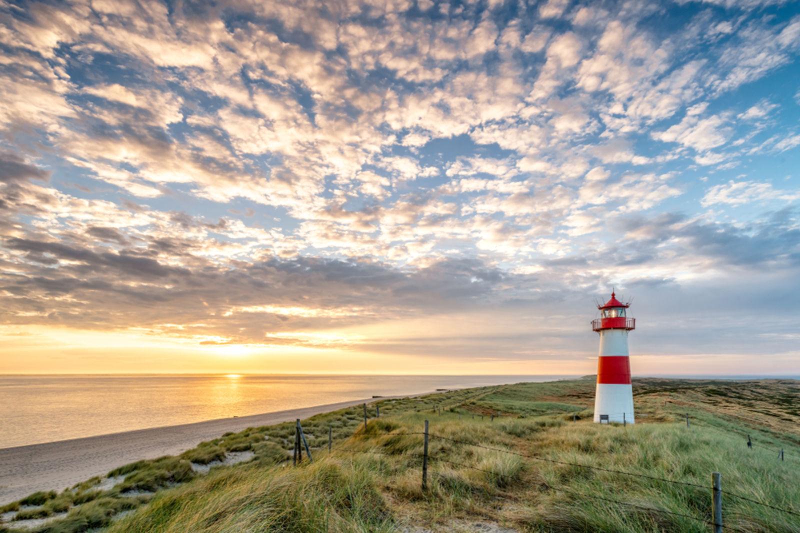 Leuchtturm am Lister Ellenbogen auf Sylt, Nordsee