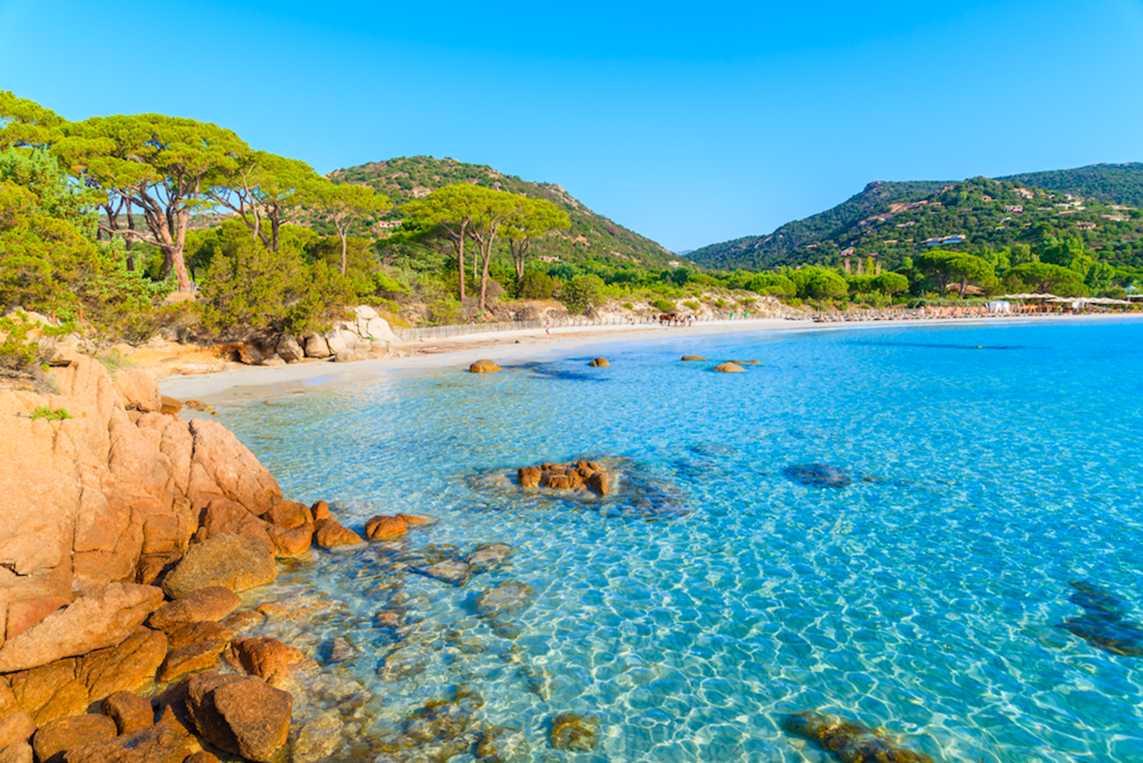 Plage de Palombaggia Korsika Frankreich Strand