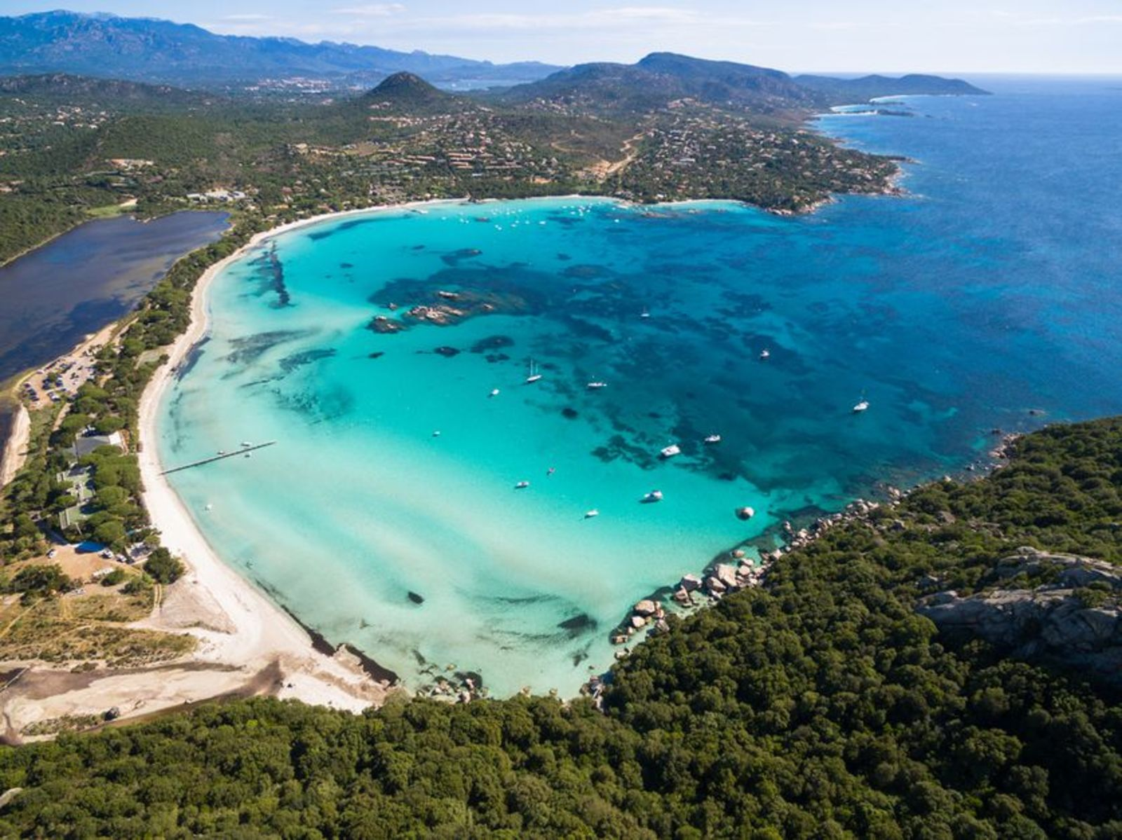 beach, Corse, France