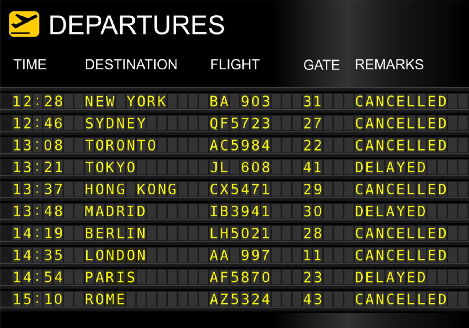 Delay airport