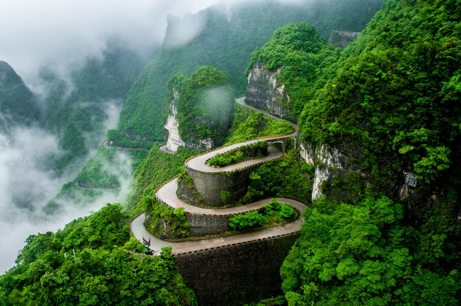 Der Tianmen Berg im Nationalpark Zhangjiajie in China