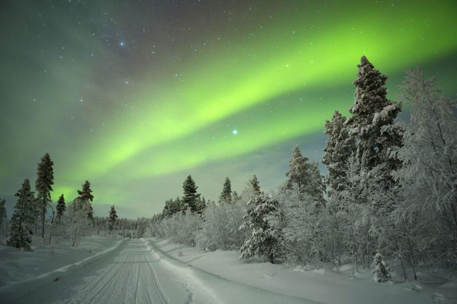 aurora borealis, lapland, polar light