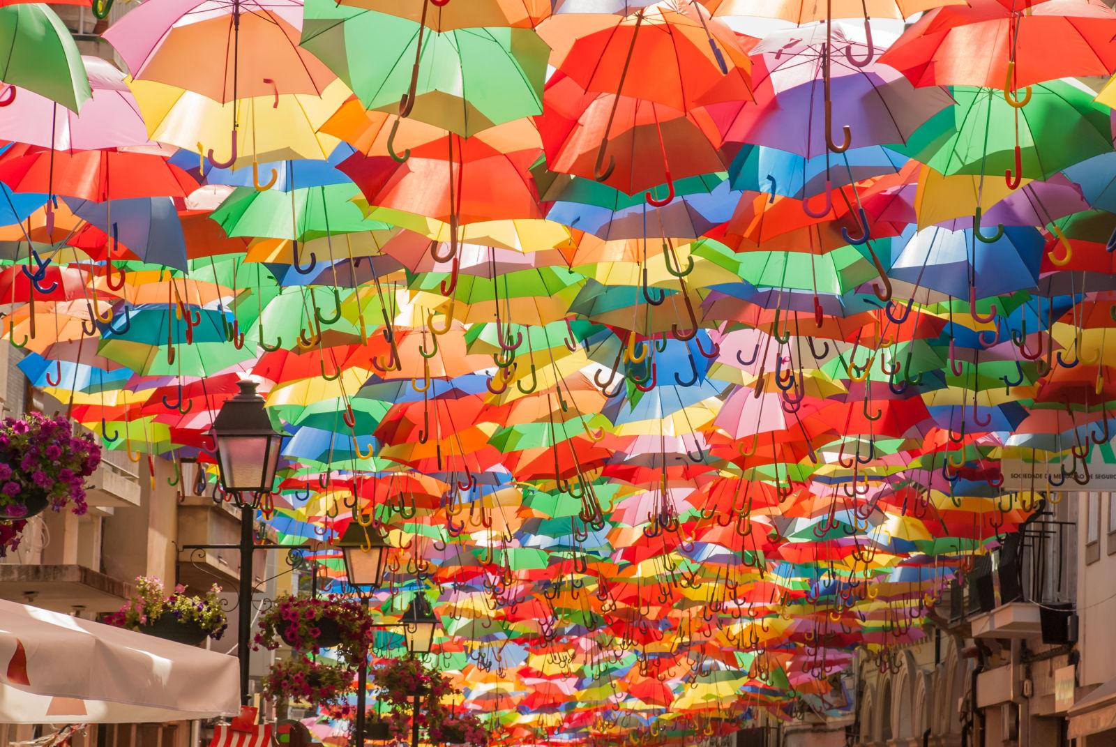 algarve, portugal, umbrella