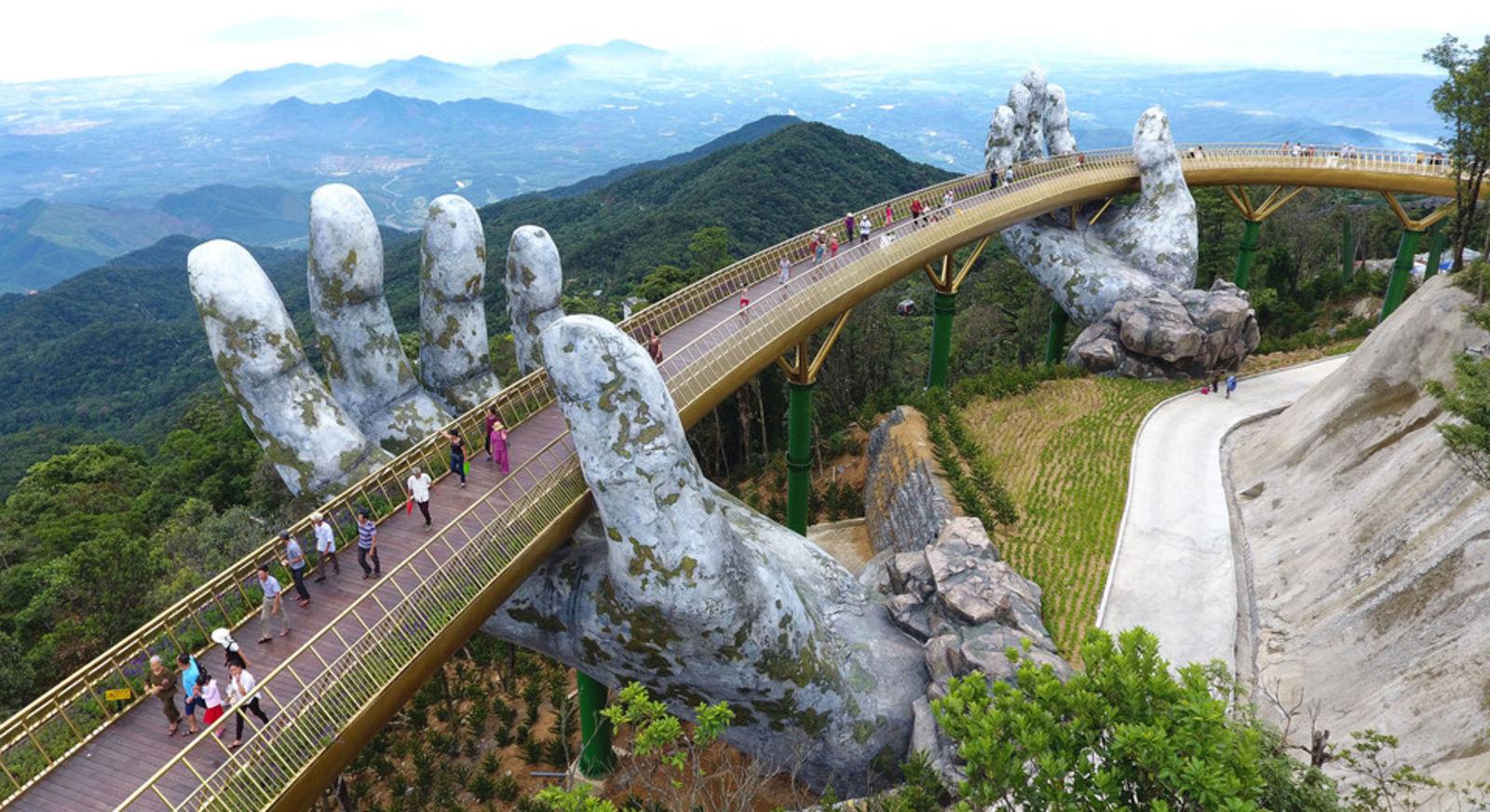 Giant Hands Bridge Vietnam