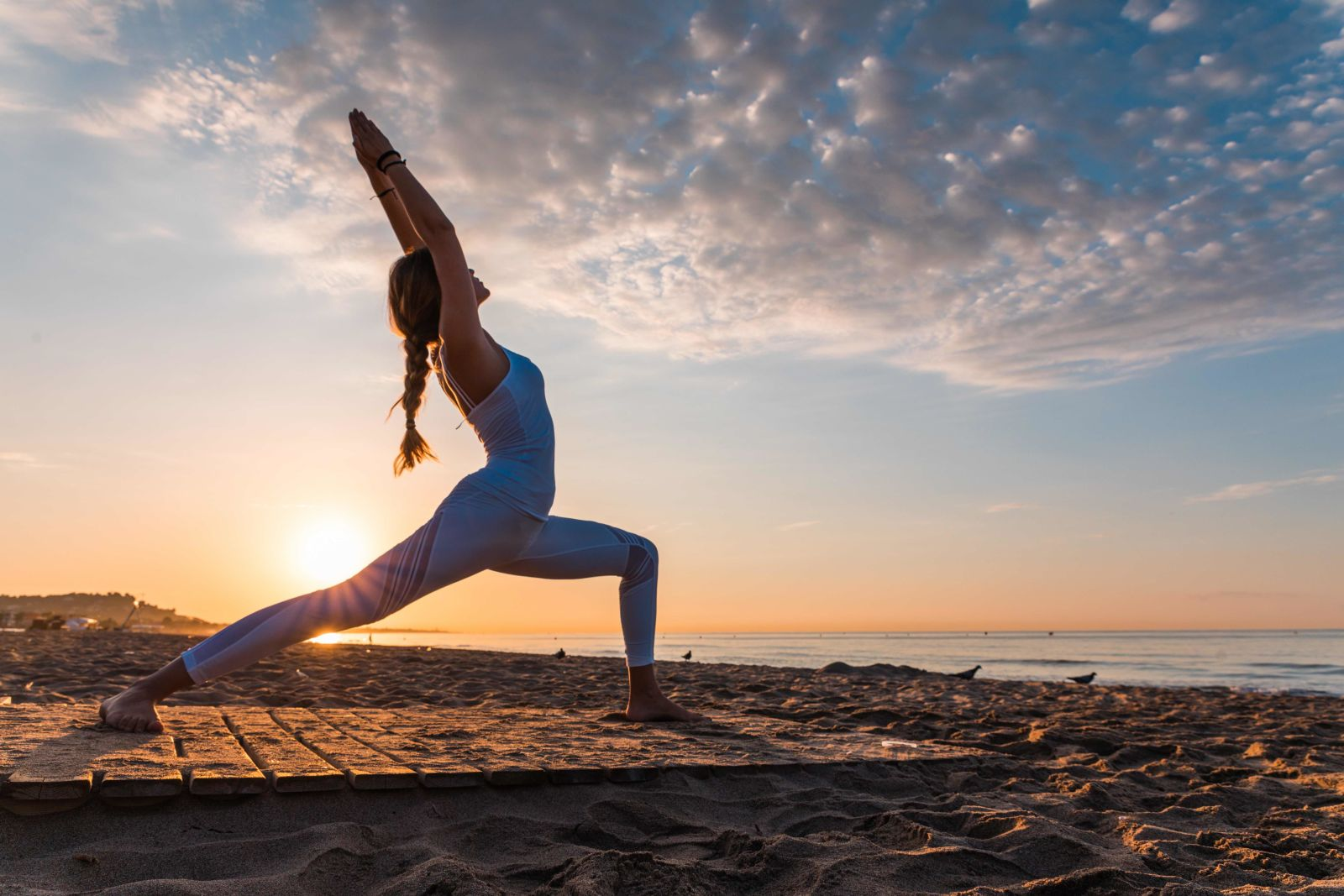 beach, sport, yoga