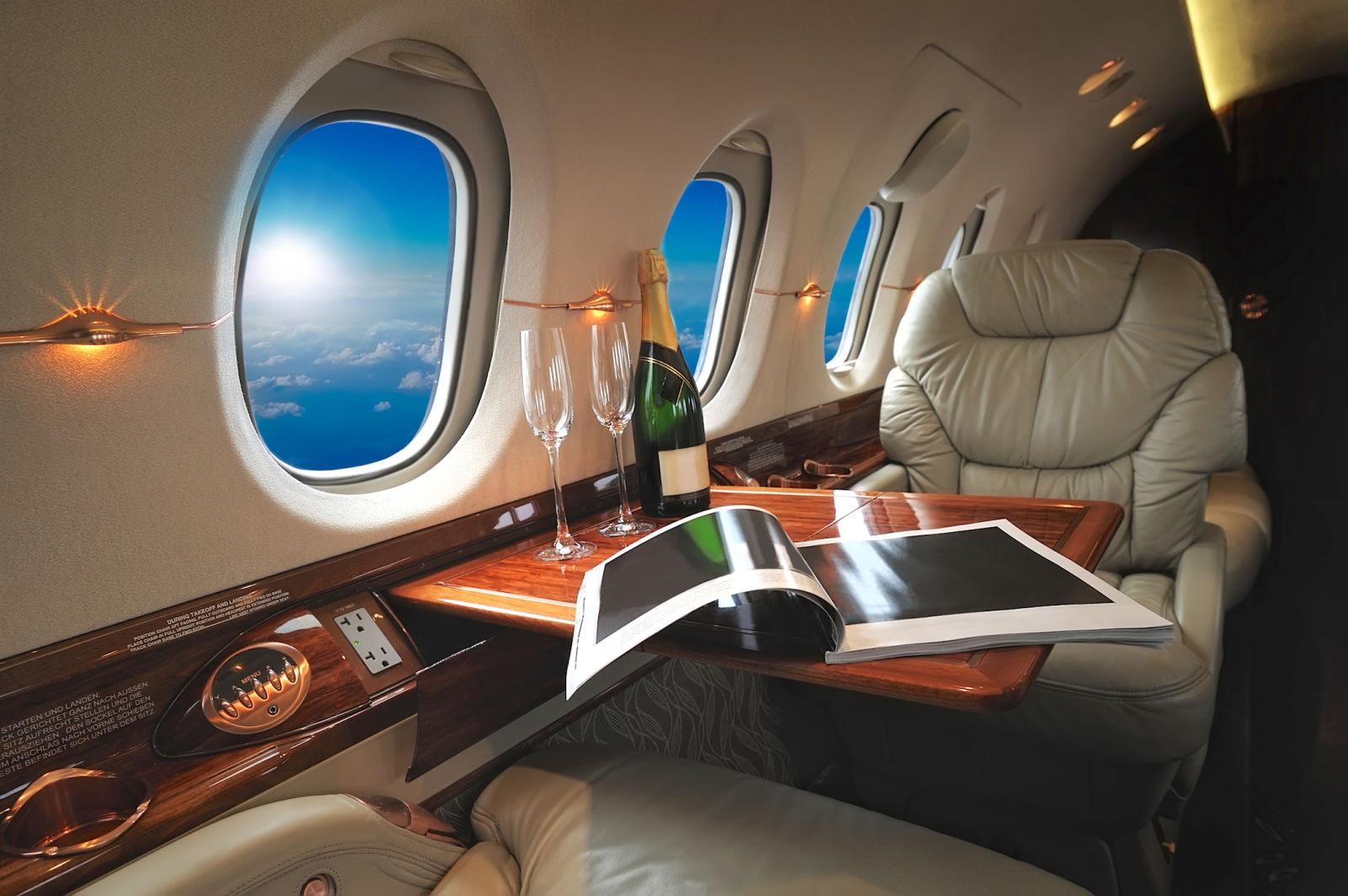luxury, private jet