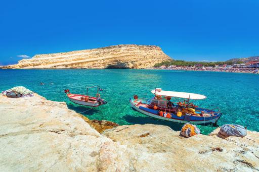 Vols A/R à petit prix vers la Crète