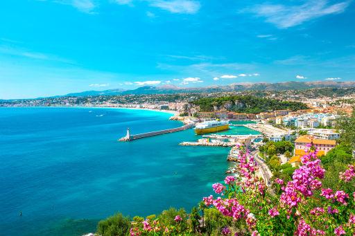 Vue mer et montagnes à Nice