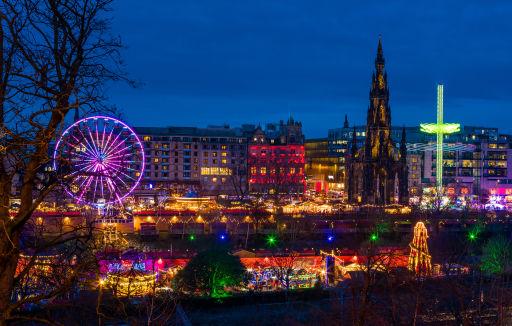 🎄 Viaje a los Mercados de Navidad de Edimburgo con hotel céntrico