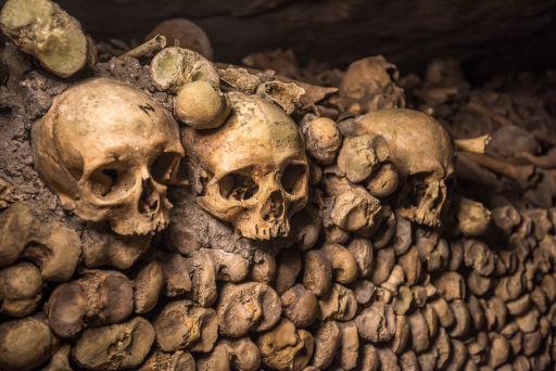 Les catacombes de Paris à Halloween