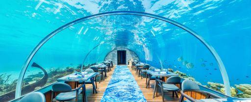 Podwodne restauracje na Malediwach